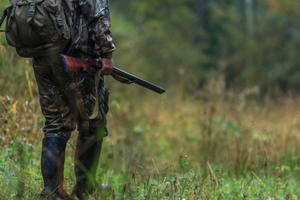 Man on a hunt