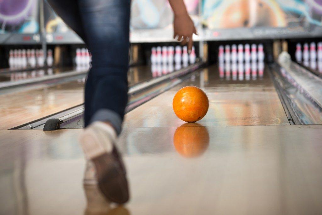 bowling ball rolling