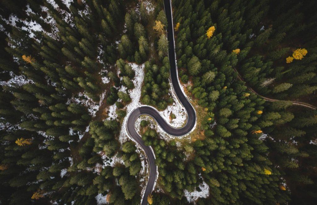 a road in Alaska